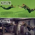 V starem filmu, kot je »Matrica«, so igralci skoraj res leteli!