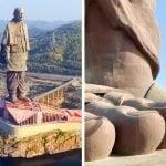 Kip enotnosti v Indiji je največji kip na svetu. Visok je 240 metrov.