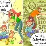 Očetje so res bolj brezskrbni :)